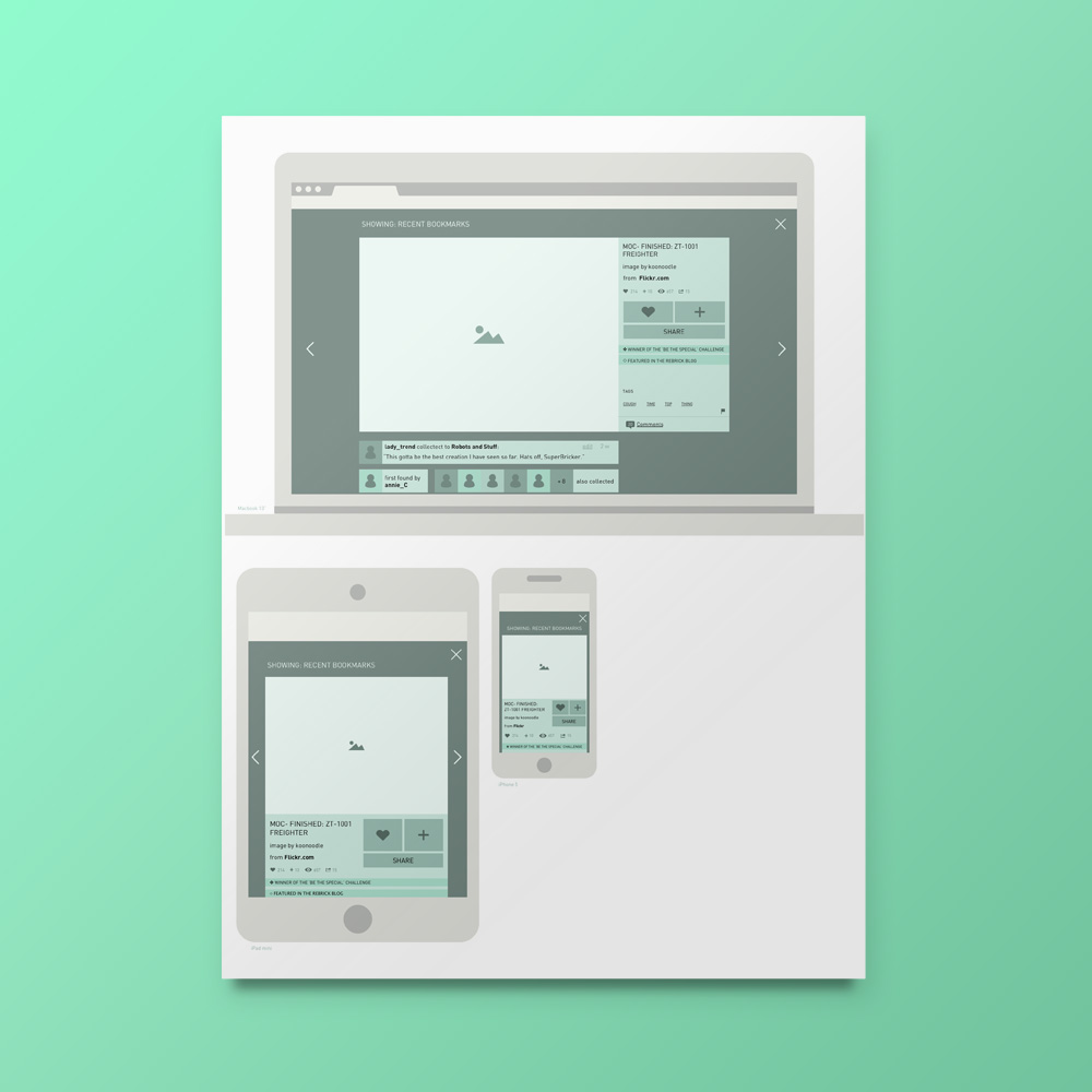 Image page wireframes
